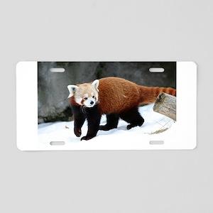 Red Panda Aluminum License Plate