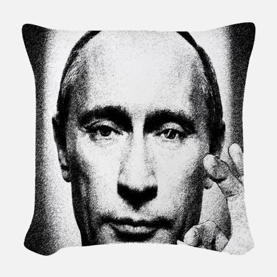 putins blunt Woven Throw Pillow