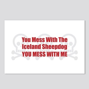 Mess With Sheepdog Postcards (Package of 8)