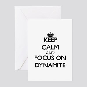 Keep Calm and focus on Dynamite Greeting Cards