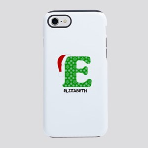 Christmas Letter E Monogram iPhone 7 Tough Case