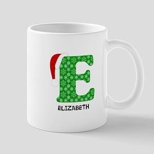 Christmas Letter E Monogram 11 oz Ceramic Mug