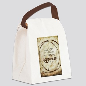 COFFEE WITH A FRIEND Canvas Lunch Bag