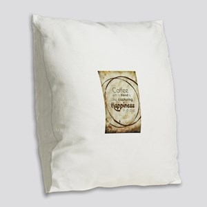COFFEE WITH A FRIEND Burlap Throw Pillow
