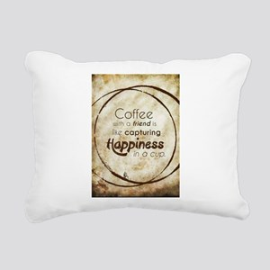 COFFEE WITH A FRIEND Rectangular Canvas Pillow