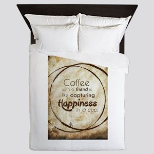 COFFEE WITH A FRIEND Queen Duvet