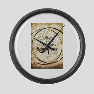 COFFEE WITH A FRIEND Large Wall Clock