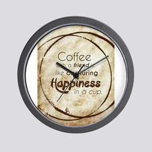 COFFEE WITH A FRIEND Wall Clock