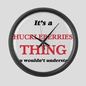 It's a Huckleberries thing, y Large Wall Clock