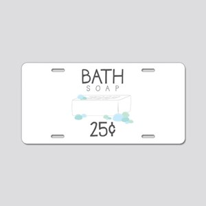 Bath Soap Aluminum License Plate