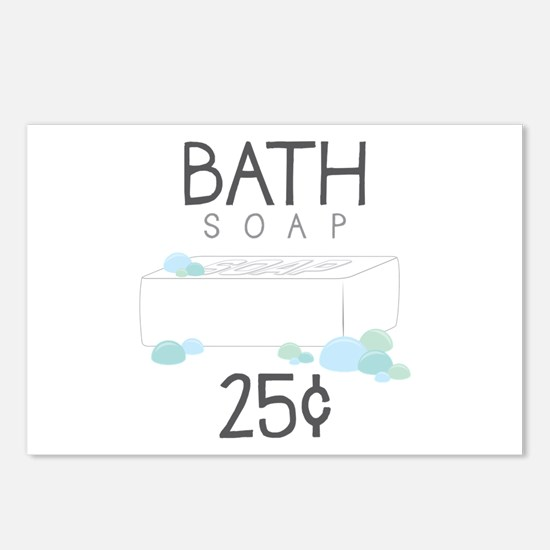 Bath Soap Postcards (Package of 8)