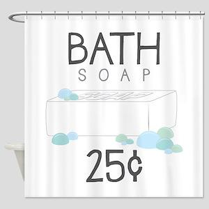 Bath Soap Shower Curtain