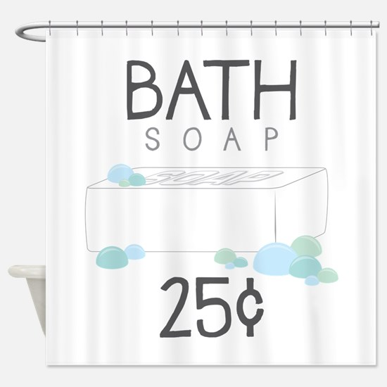 Bath Soap Shower Curtain