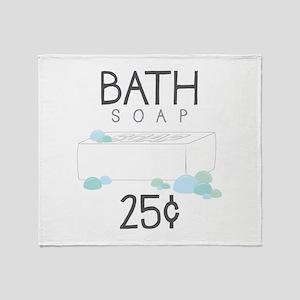 Bath Soap Throw Blanket