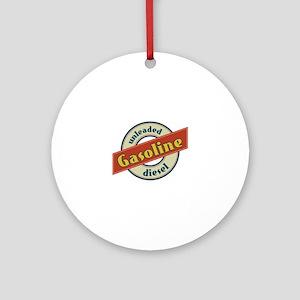 Unleaded Gasoline diesel Ornament (Round)
