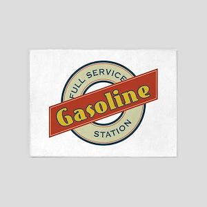 Full Service Gasoline Station 5'x7'Area Rug