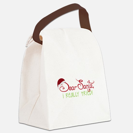 I Really Tried Canvas Lunch Bag