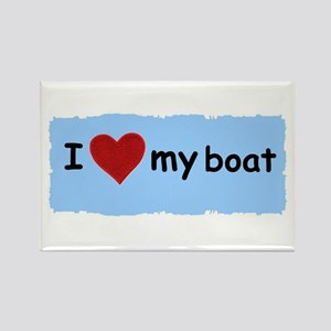 I LOVE MY BOAT Rectangle Magnet
