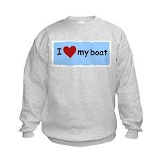 I LOVE MY BOAT Sweatshirt