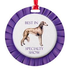 Saluki Best In Specialty Show Ornament