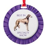 Saluki Best In Specialty Show Round Ornament