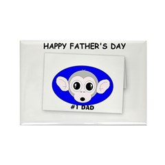 HAPPY FATHER'S DAY -#1 DAD Rectangle Magnet (10 pa