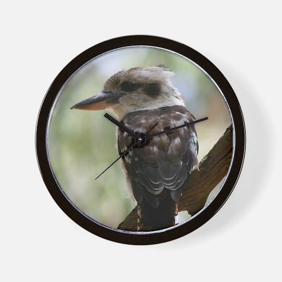 Kookaburra in Old Gum Tree Australia Wall Clock