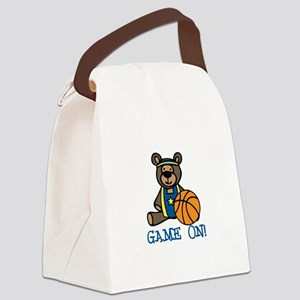 Game On Canvas Lunch Bag