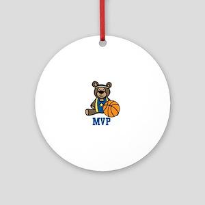 Teddy Bear MVP Ornament (Round)