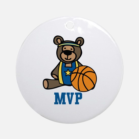 Teddy Bear MVP Ornament (Round)