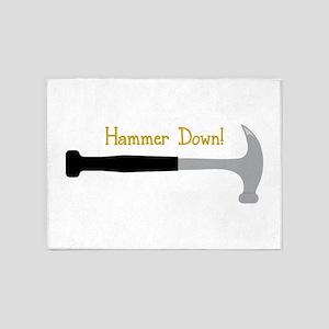 Hammer Down! 5'x7'Area Rug