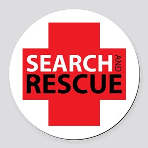 Search And Rescue Round Car Magnet
