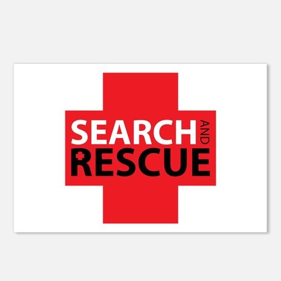 Search And Rescue Postcards (Package of 8)