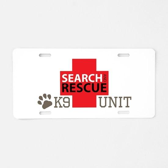 K9-Unit Aluminum License Plate