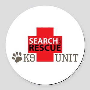 K9-Unit Round Car Magnet