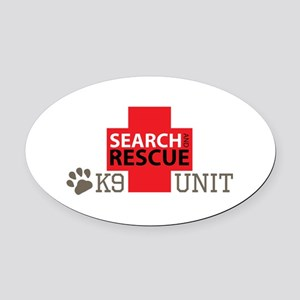 K9-Unit Oval Car Magnet