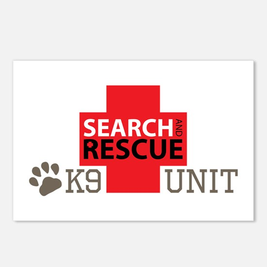 K9-Unit Postcards (Package of 8)
