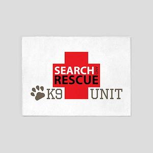 K9-Unit 5'x7'Area Rug