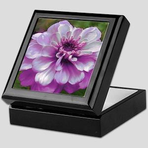 Purple Zinnia Keepsake Box