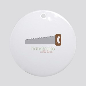 Handmade with love Ornament (Round)