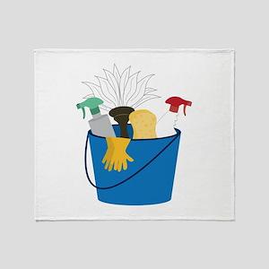 Cleaning Bucket Throw Blanket