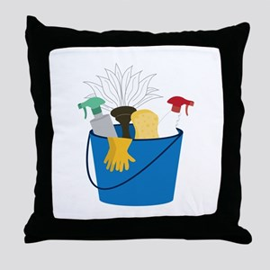 Cleaning Bucket Throw Pillow