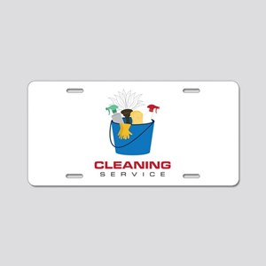 Cleaning Service Aluminum License Plate