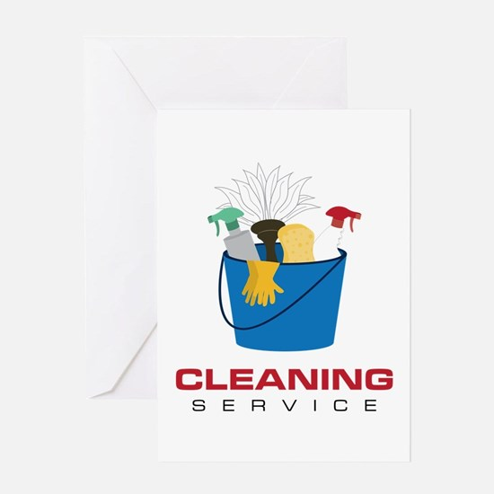 Cleaning Service Greeting Cards