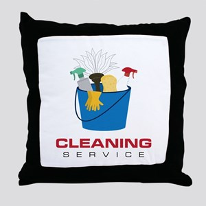 Cleaning Service Throw Pillow