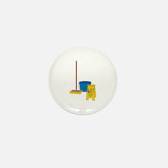 Mop Bucket Mini Button