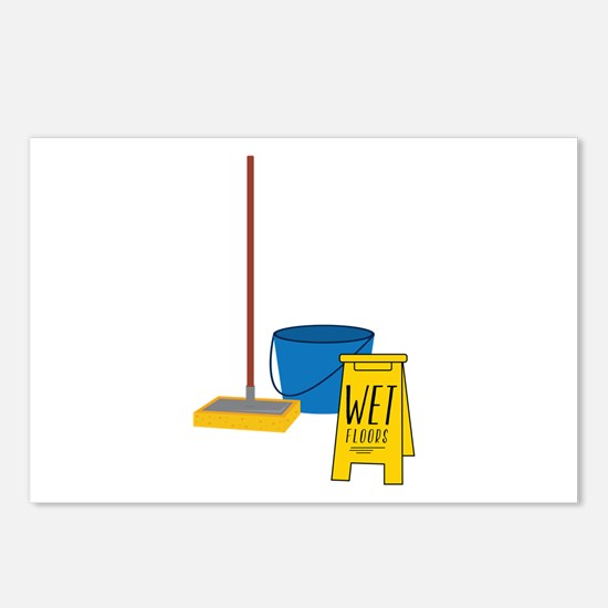 Mop Bucket Postcards (Package of 8)