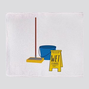 Mop Bucket Throw Blanket