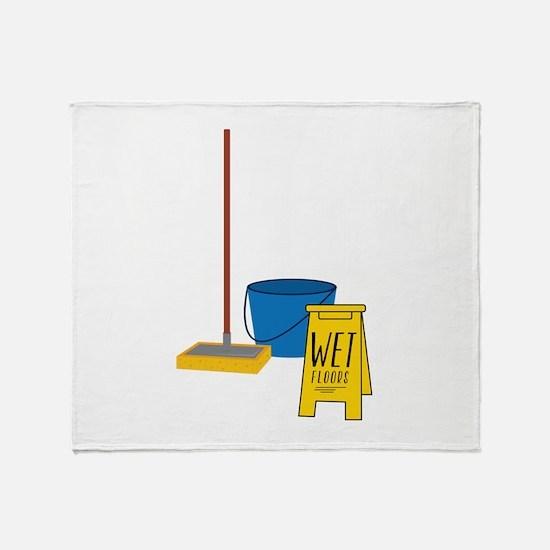 Mop Bucket Throw Blanket