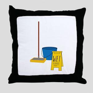 Mop Bucket Throw Pillow